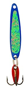Bay De Noc 3BLUE 1-1/2-Inch Swedish Pimple Jig, 1/5-Ounce, Crushed Ice/Blue Ice