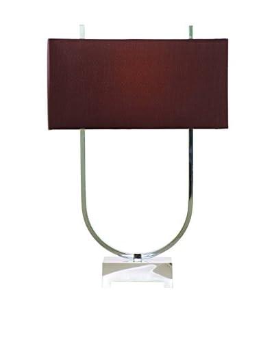 Bassett Mirror Co. Quasar Table Lamp, Chrome Plated