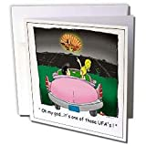 Londons Times Funny Aliens Cartoons - UFA Sighting In Tx Unidentified Flying Armadillo - Greeting Cards-12 Greeting Cards with envelopes
