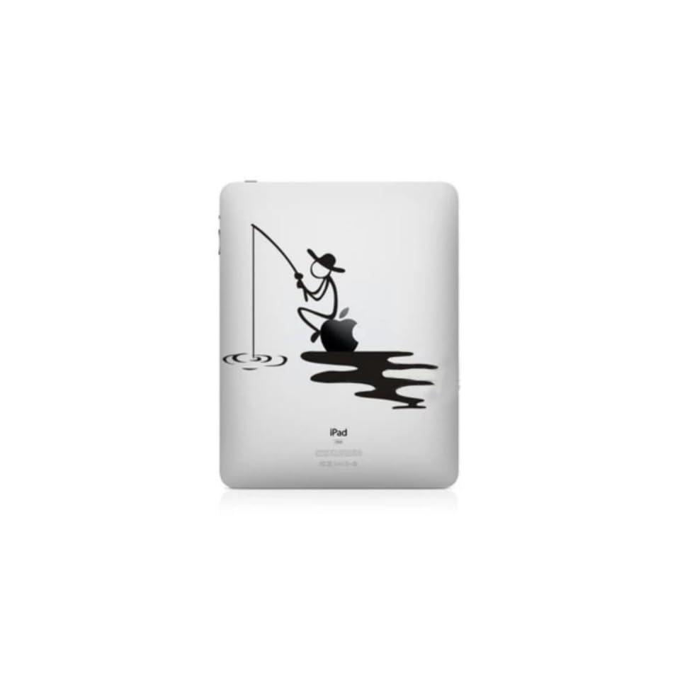 Nine States Matt Black Decal Vinyl Skin Sticker Fits Ipad2/Ipad3/Ipad4 Fishing