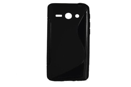 S-Linie TPU Schutz Flexible Tasche Schale für Huawei Ascend Y530 C8813 Schwarz