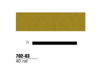 (3M 70203) (3M Id Number 75345495271) 3M(Tm) Scotchcal(Tm) Striping Tape 70203, Gold Metallic, 1/8 In X 40 Ft [You Are Purchasing The Min Order Quantity Which Is 1 Roll]