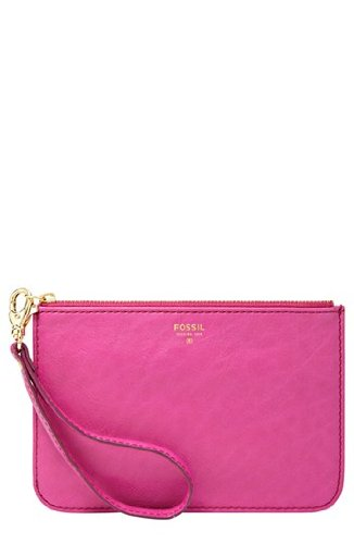 Fossil Giftable Small Zip Pouch Sl4413695 Color: Bright Pink Wallet