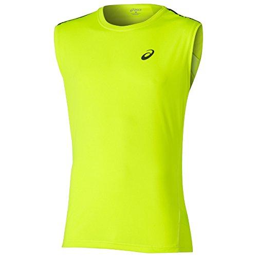 Asics Maglietta senza maniche da uomo - Giallo (Safety Yellow), X-Large