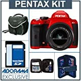 Pentax K-r Digital SLR Camera Red Kit, with DA L