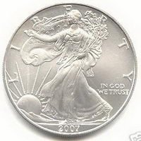 2007 US MINT AMERICAN SILVER EAGLE $1 DOLLAR UNC COIN