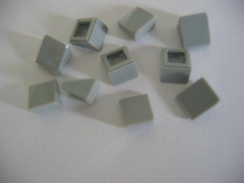 LEGO CITY - 10 neu hellgraue 1-er DACHSTEINE