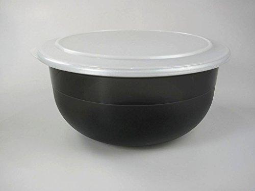 Tupperware Saladier Noir avec couvercle argenté 3,5l