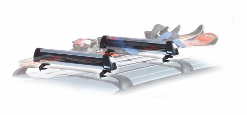 Thule 91724 Universal Flat Top 4 Pair Ski and Snowboard Carrier with Locks