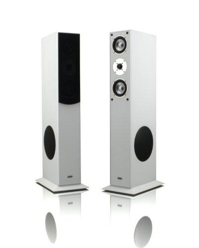 1 Paar Standlautsprecher Mohr SL15 weiss Lautsprecherboxen Lautsprecherbox Lautsprecher