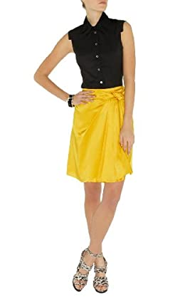 Drape Satin Skirt