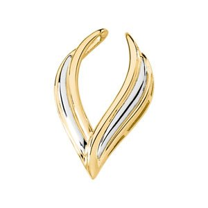 14K White And Yellow Gold Two Tone Pendant Enhancer