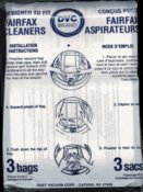 New Fairfax Vacuum Bags - 3 Pack