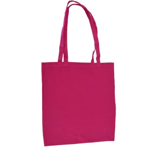 NATURAL COTTON TOTE SHOPPER BAG - 3 COLOURS - LOW PRICE