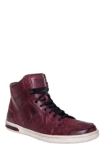 Converse by John Varvatos Men'S Jv Weapon Mid Top Leather Sneaker