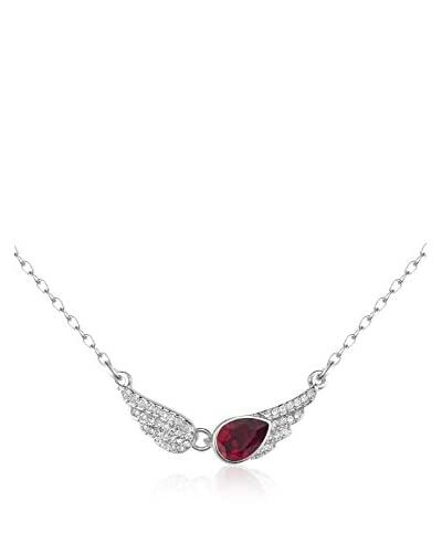 Absolute Crystals Conjunto de cadena y colgante Angel Wings Rojo