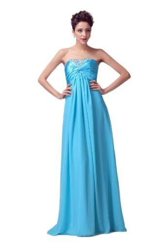 Onlyuswedding Women'S Strapless Chiffon Silk Beaded Evening Dress Dh0014-Xxx-Large Blue