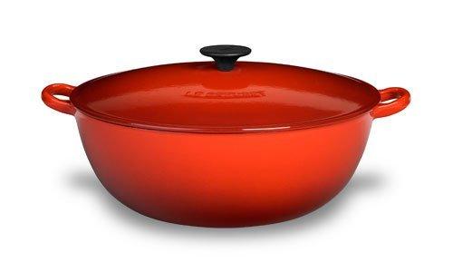 LE CREUSET Enameled Cast Iron 4-1/4 Quart Soup Pot Red