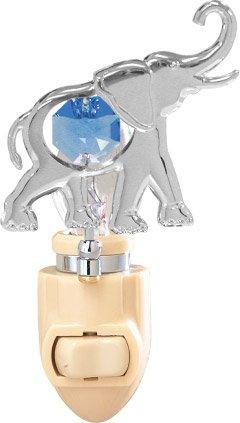 Elephant Night Light..... With Blue Swarovski Austrian Crystals front-300811