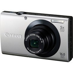 Canon PowerShot A3400 IS 16.0 MP Digital Camera with 5x Optical Image Stabilized Zoom 28mm Wide-Angle Lens with 720p HD Video Recording and 3.0-Inch Touch Panel LCD (Silver)