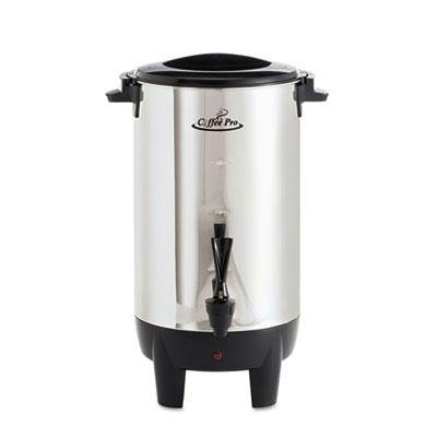 Coffee Pro - 30-Cup Percolating Urn Stainless Steel