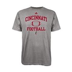 Buy adidas Cincinnati Bearcats Grey Sport Football T-Shirt by adidas