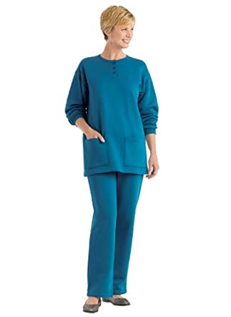 Fleece Pant Set - Misses' Sizes, Color Teal, Size XL PET