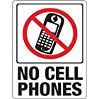 Hy-ko 20618 No Cell Phones Plastic Sign 12x9 (Pack of 10)