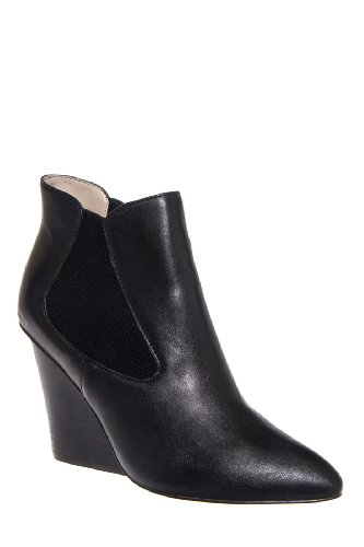 Steven Malik High Wedge Pointed Toe Bootie