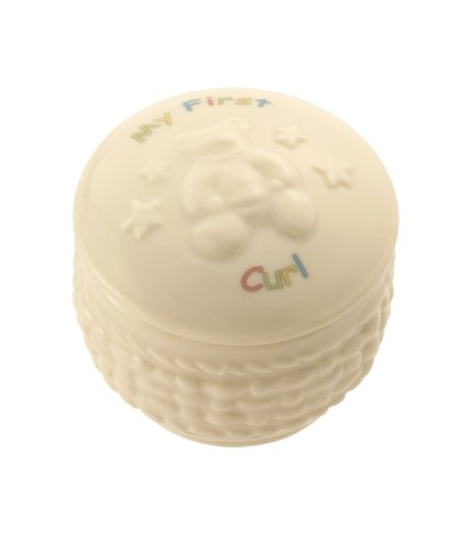 Belleek 4155 My First Curl Box, 2 by 2-Inch, White