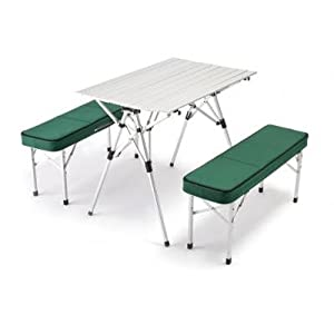 Merveilleux The Deluxe Picnic Table And Bench Set Is Lightweight, Portable, And  Foldable Making It Ideal For Trade Shows, Camping, Parties, The Home, And  The Beach.