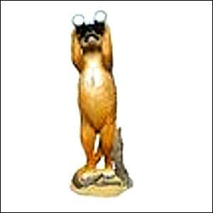 Erdmännchen Deko Garten Figur mit Fernglas