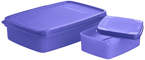 Signoraware Compact Small Lunch Box, Deep Violet