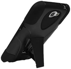 Technocel SAGN2SKSBK Kickstand Shield for Samsung Galaxy Note II - 1 Pack - Non-Retail Packaging - Black