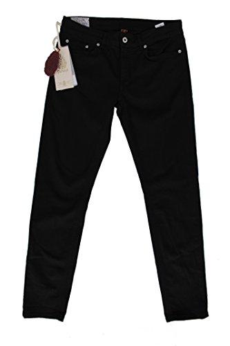 DonDup Pantalone Donna Monroe Black 5 Tasche (25, Nero)