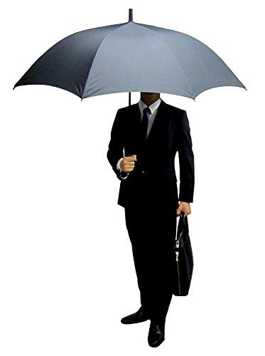 【無償修理対象】 丈夫なグラスファイバー骨 撥水効果の高いデュポン社のテフロン加工生地 Lサイズ 70cm ジャンプ傘 (黒)