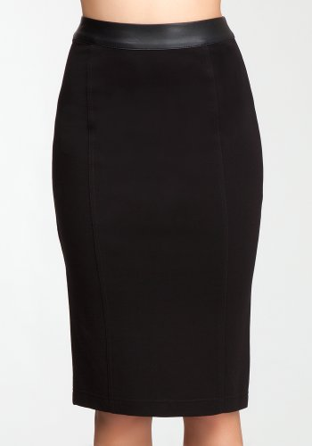 bebe Ponte Pencil Skirt Coordinated Sportswear Blk-xs Image