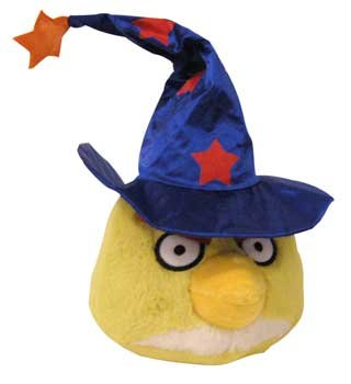 Angry Birds Halloween 5-Inch Plush Yellow Bird with Wizard Hat (Angry Birds Seasons Toys compare prices)
