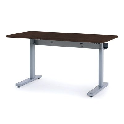 "Anthro Ergonomic Elevate Ii Advanced Electric Lift Computer Table Laminate Color: Wenge, Size: 60"" W X 29"" D"