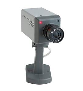 Realistic Looking Mock Surveillance Camera w/Sensor-Motion Detection & Swivel Action