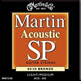 Martin MSP3150 12.5-55 acoustic light medium 80/20 bronze guitar strings (2 packs)