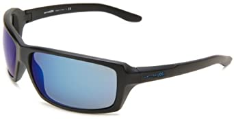Arnette Chop Shop AN4172-03 Square Sunglasses,Matte Black Frame/Blue Mirror Lens,One Size