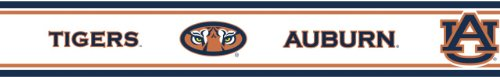 "Auburn Tigers (6) Pack Peel & Stick Wall Borders (5.7""X12'; TOTAL FOR 6 PACK = 72 FEET LENGTH)- SAVE BIG ON BUNDLING! at Amazon.com"
