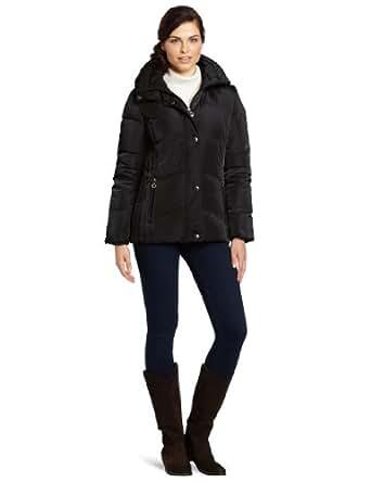 Calvin Klein Women's Faux Fur Trim Short Down Jacket, Black, X-Small