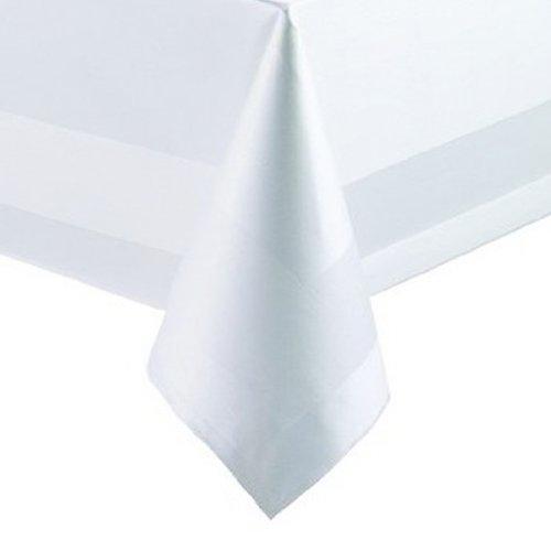 Abverkauf Tischdecke Weiss ca. 85 x 85 cm Eckig Baumwolle Optik Pflegeleicht