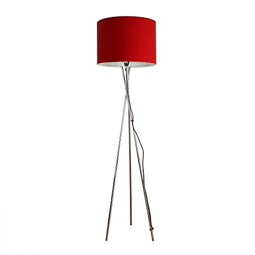 Modern Chrome Tripod Style Floor Lamp With Rolla