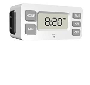 Stanley 38424 TimerMax Digislim Daily Digital Indoor Timer, White