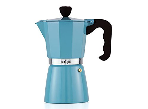 La Cafetiere Retro Blue 9 Cup Classic Espresso Coffee Maker Precolator