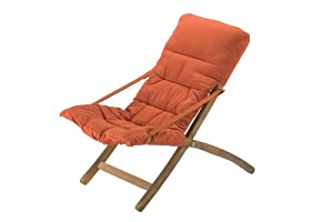 Fiam 900S NCAR Fauteuil Relax de Jardin Bois Terracotta 61 x 95 x 87