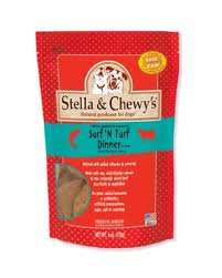 Stella & Chewy's Freeze Dried Surf & Turf (Beef and Salmon) Dinner for Dogs, 15 ounce